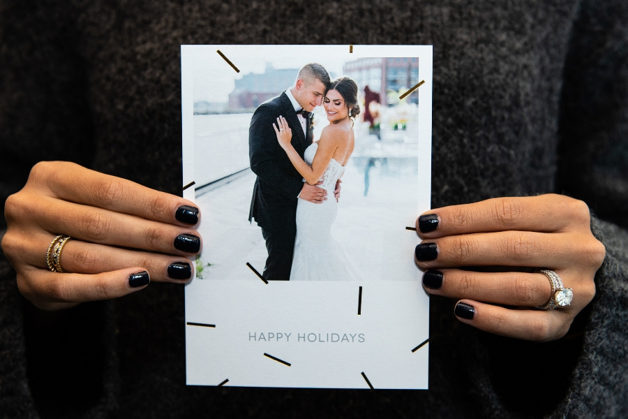 foil holiday cards