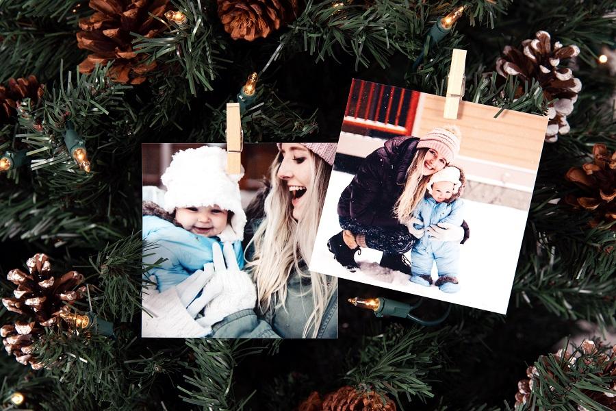 Photo Prints on Christmas Tree