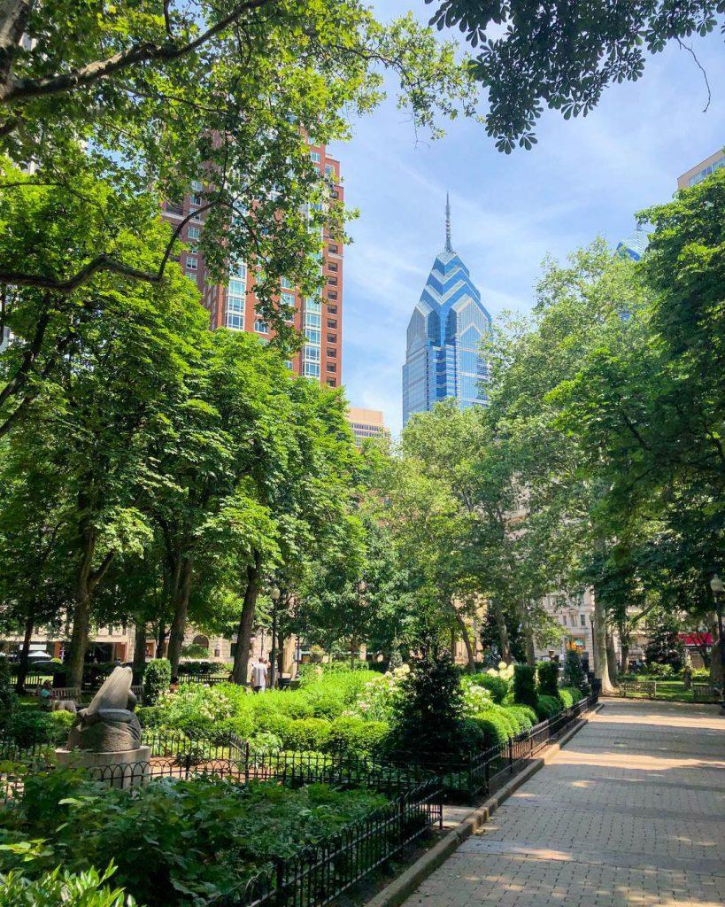 Rittenhouse Square in Philadelphia, PA