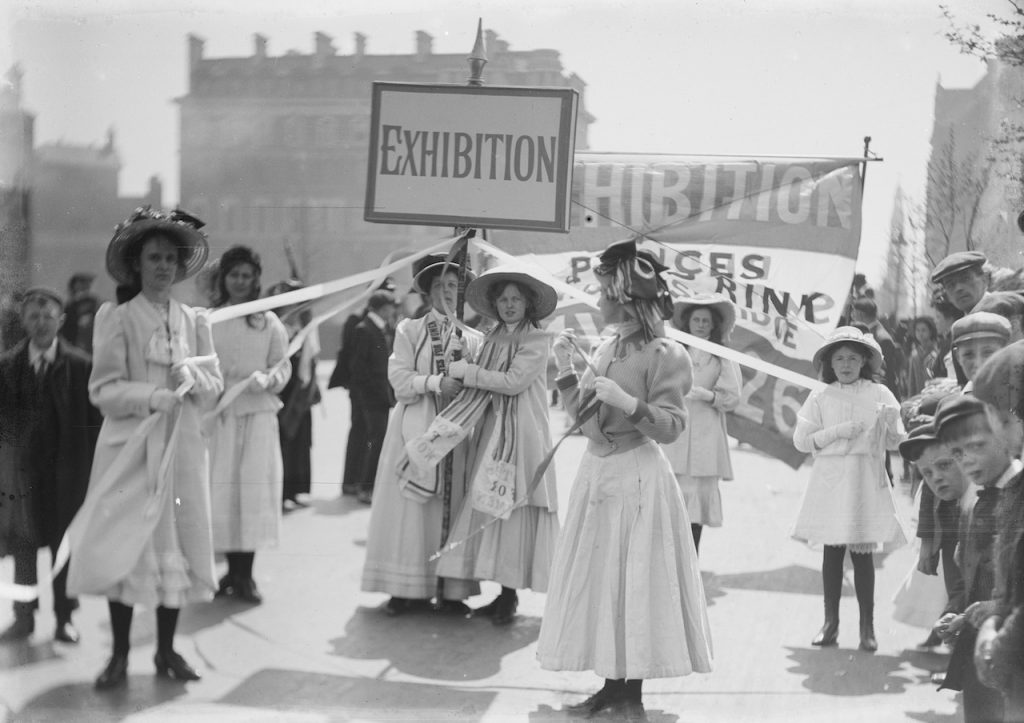 Suffragettes photographed by Christina Broom