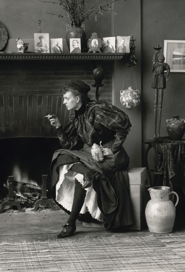 Self-portrait by Frances Benjamin Johnston