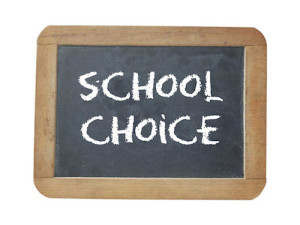 School choice chalkboard