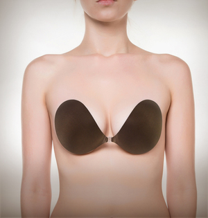 Image of NuBra strapless bra chocolate color