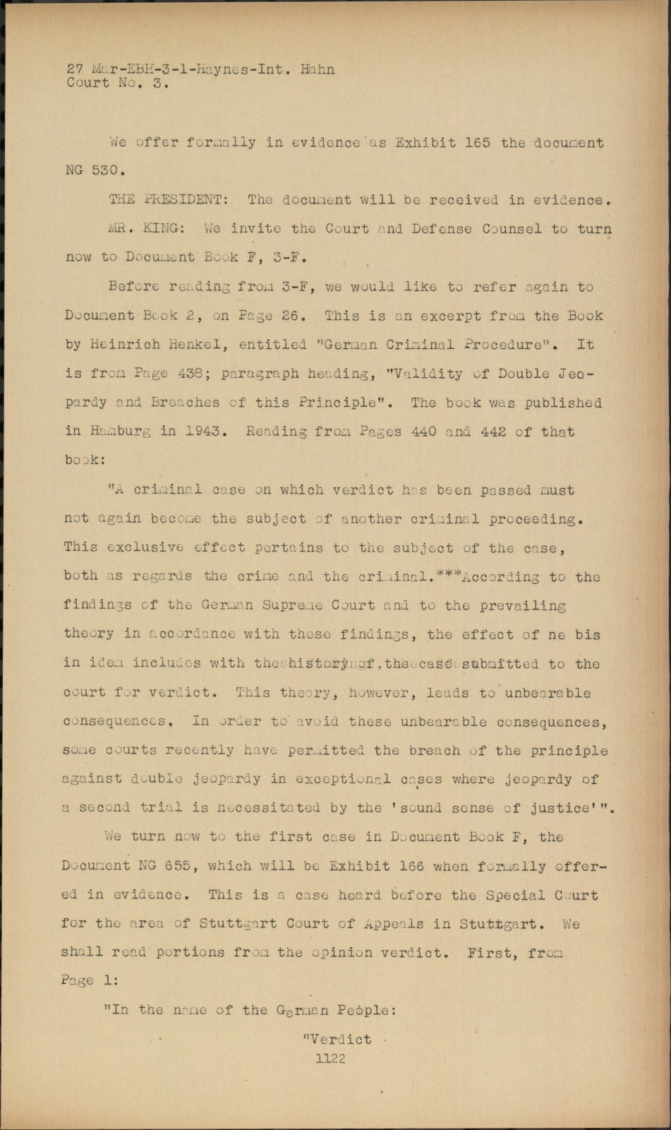 Nuremberg   Transcript Viewer   Transcript for NMT 20 Justice Case