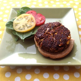 An image of Black Bean & Corn Burger