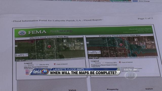 Lafayette Parish working to update FEMA flood maps Louisana