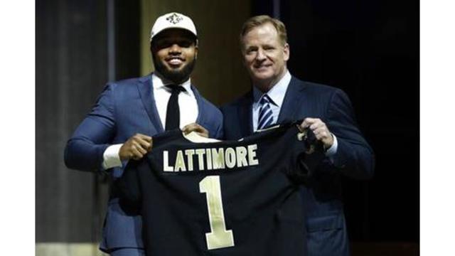 Saints pick CB Marshon Lattimore 11th overall in NFL Draft
