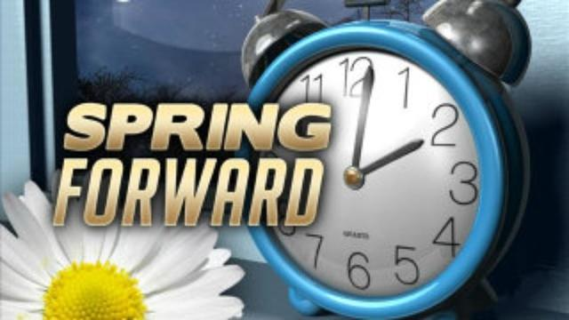 Clocks spring forward Sunday
