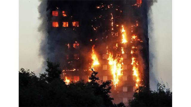 Photos: Massive blaze erupts at London high-rise
