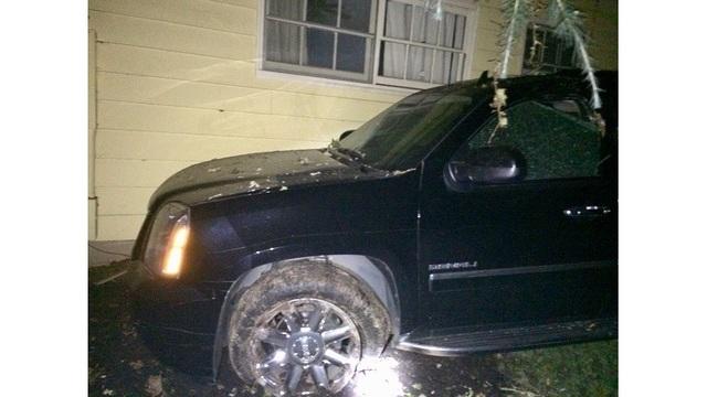 Homes evacuated after car crash breaks gas line