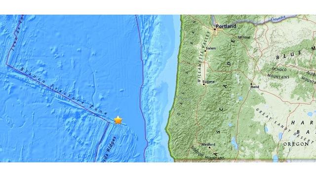 4.7 quake off Oregon coast felt near Lakeport