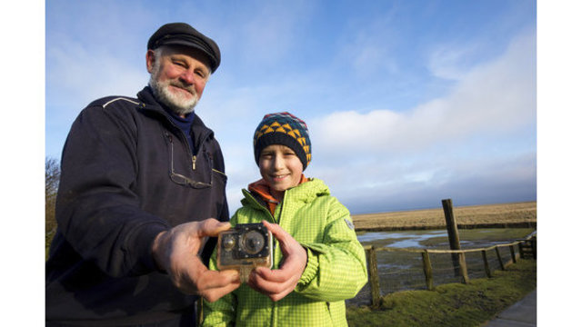 Boy reunited with camera that drifted to Germany