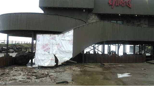 Kyllos restaurant Lincoln city damage 01182018