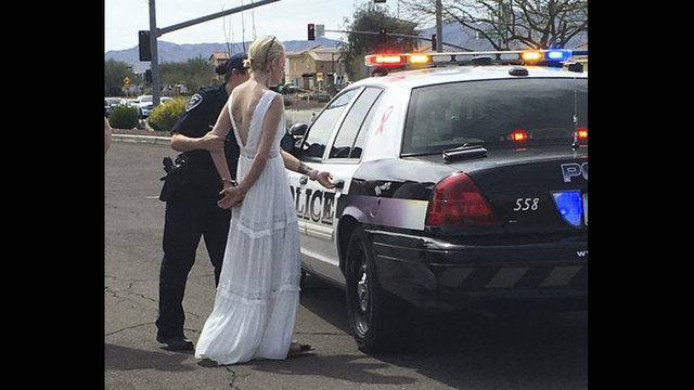 Bride en route to wedding arrested for DUI after crash