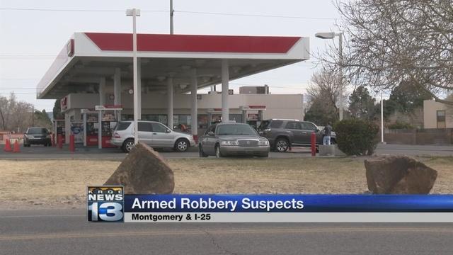 Three men accused of robbing gas station at gunpoint