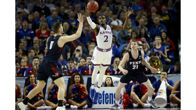 Seeded Kansas comes alive, beats Penn in NCAAs