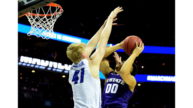 Creighton's Foster faces former team, coach in Kansas State