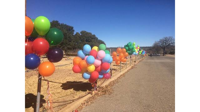 Balloons line Fredericksburg streets to remember 2-year-old boy