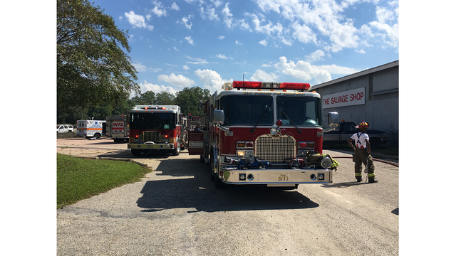 Multiple departments respond to The Salvage Shop fire in Darlington