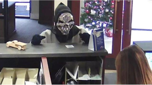 Man in skull mask robs SC First Citizens Bank