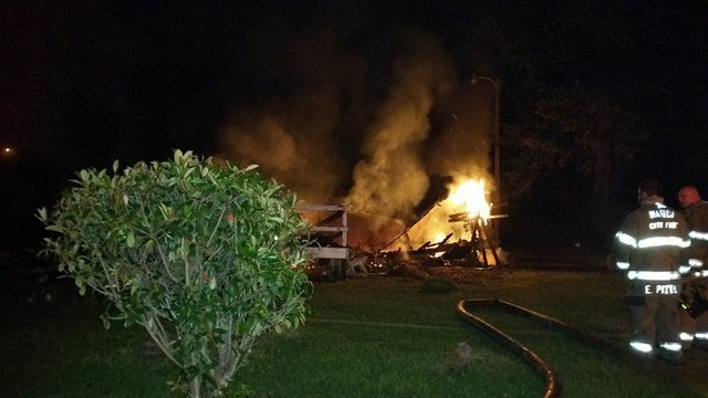Marion fire damages home