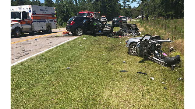 Driver killed after losing control of car, sliding across center line in Georgetown County