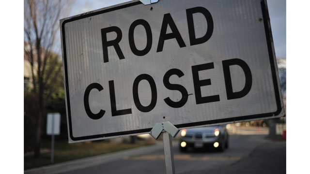 Long Ave. at Grier Swamp in Conway closed due to water on road