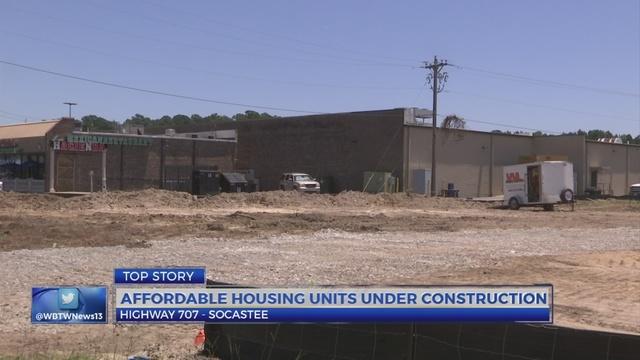 Affordable housing apartments being built behind Food Lion on Hwy 707