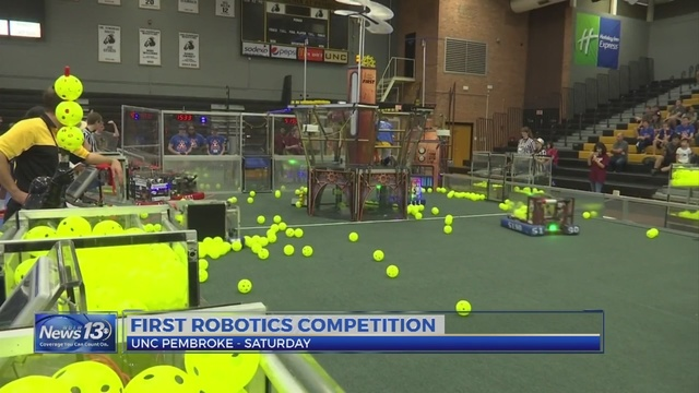 FIRST Robotics held areas first competition at UNC Pembroke