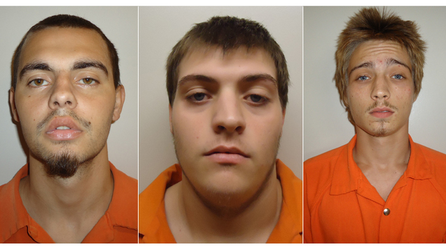 Trio jailed for reportedly vandalizing, stealing from cars in Marion