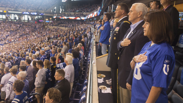 Vice President Mike Pence leaves Colts game following anthem protest