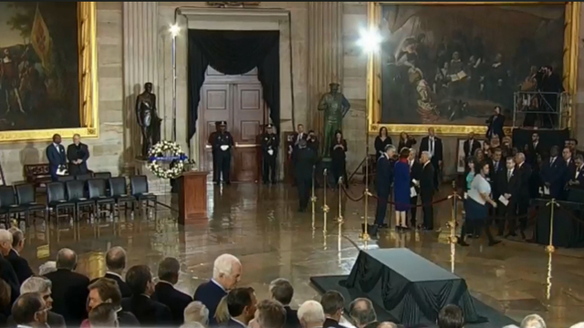 Reverend Billy Graham's casket to lie in honor at the US Capitol
