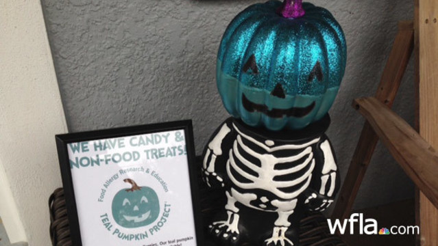 Teal pumpkins help Tampa Bay kids with allergies