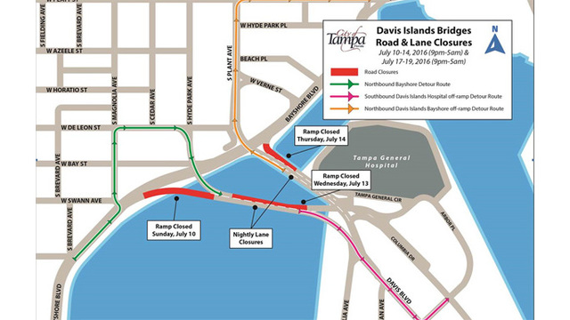 Part of Davis Islands bridges to close for work