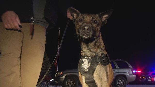 Officer killed in line of duty's K9 partner scared after shooting, comforts cop's kids