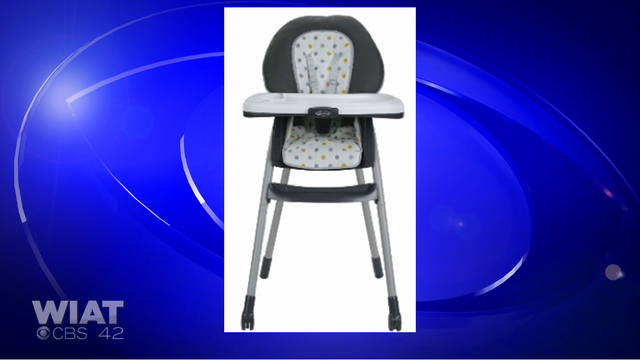 Thousands of Graco highchairs sold at Walmart recalled