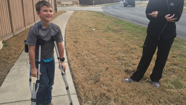 Boy crawls quarter of a mile home after struck by car