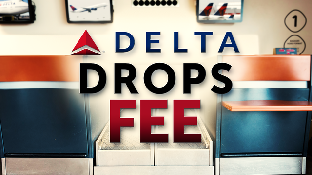 Delta drops fee for tickets bought on phone and at airports