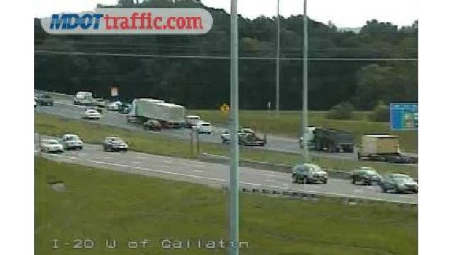 TRAFFIC: I-20 past Gallatin Street and State Street near Exit 45 August 29, 2016