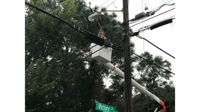 Mississippi Power crews working to restore power on the Gulf Coast