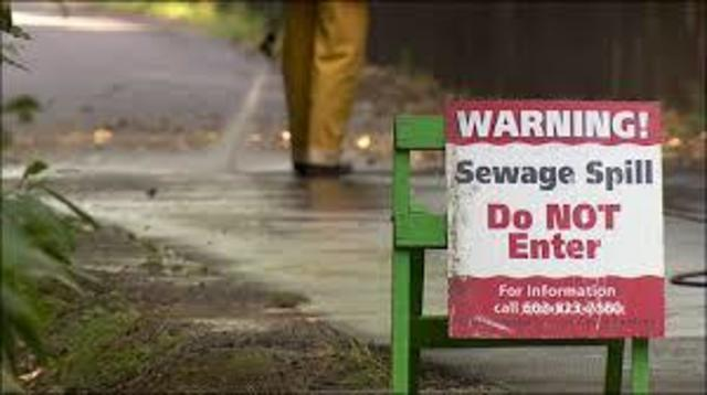 Public Notice on Sewage Spill