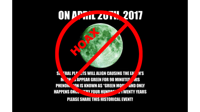 Green Moon is a Hoax