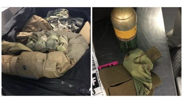 Grenade rounds found in luggage at Alabama airport