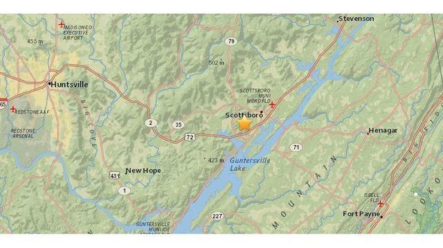 Small Earthquake Detected In North Alabama Alabama And Florida - Alabama airports