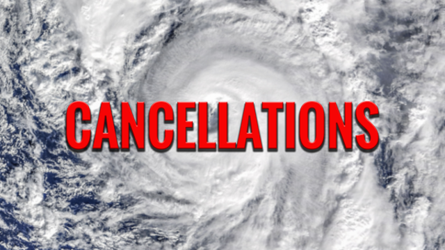 Cancellations and Closures Due to Hurricane Nate