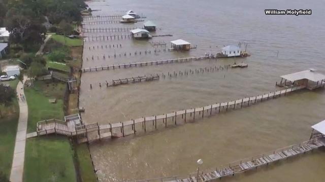 VIDEO: Amazing Drone Footage of Pier Damage in Fairhope