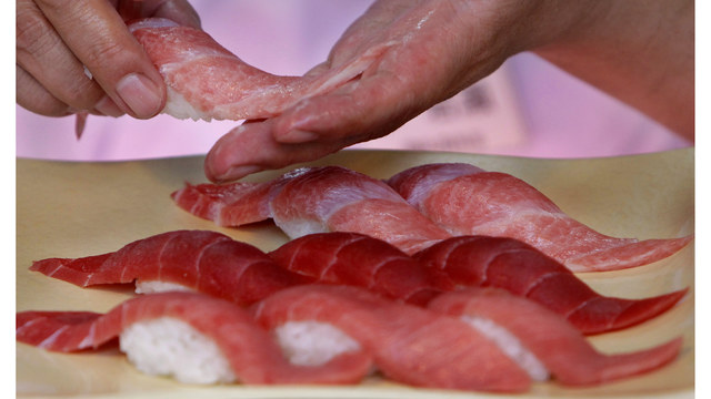 Horrifying! Sushi lover discovers 5-foot tapeworm 'wiggling out' of him
