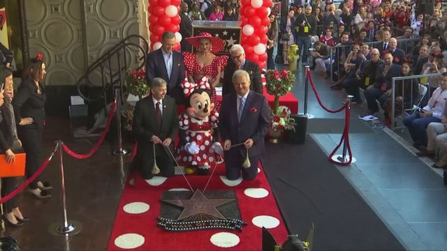 Minnie Mouse honored with a star on the Hollywood Walk of Fame