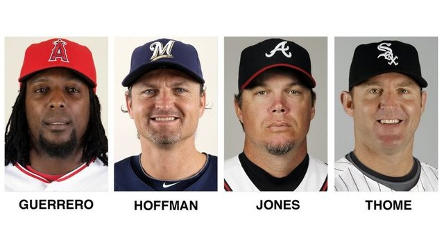 Jones, Thome, Guerrero, Hoffman elected to baseball Hall