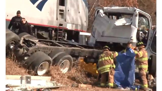 Train carrying Rep. Poliquin and other Republican lawmakers hits truck, one fatality